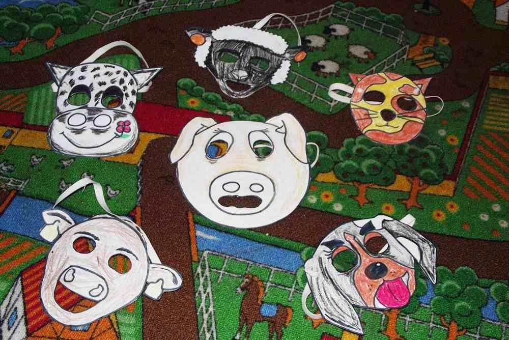 Maski zwierzęta halloween
