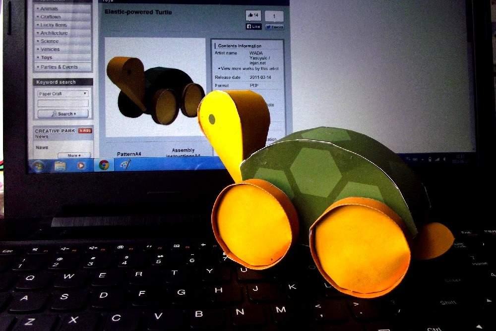 jeżdżący żółw canon