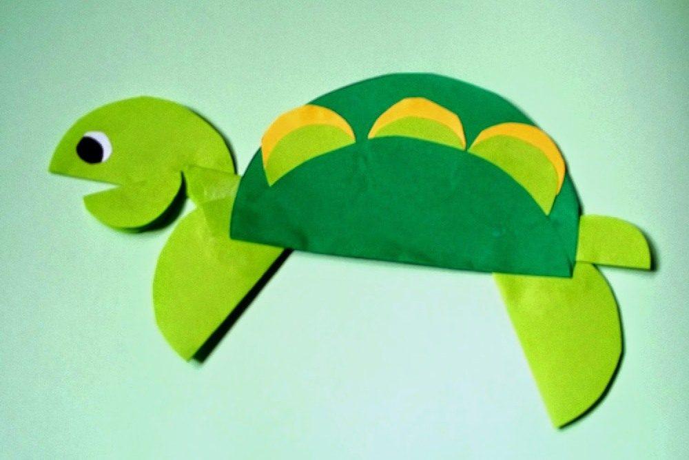 żółw origami z kółek