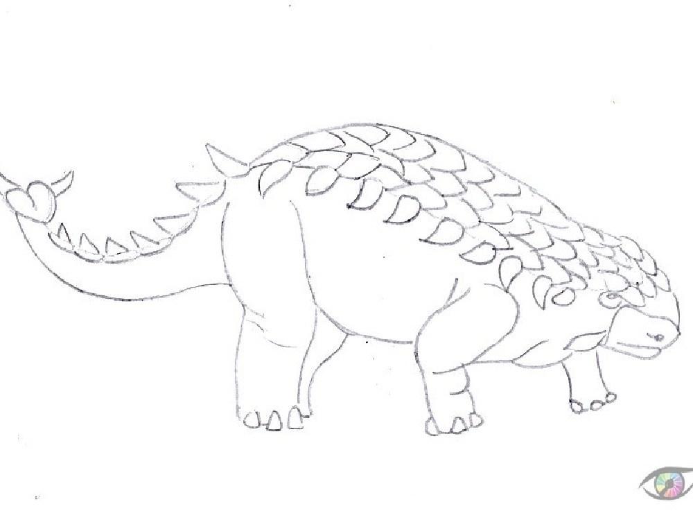 kolorowanka dinozaur