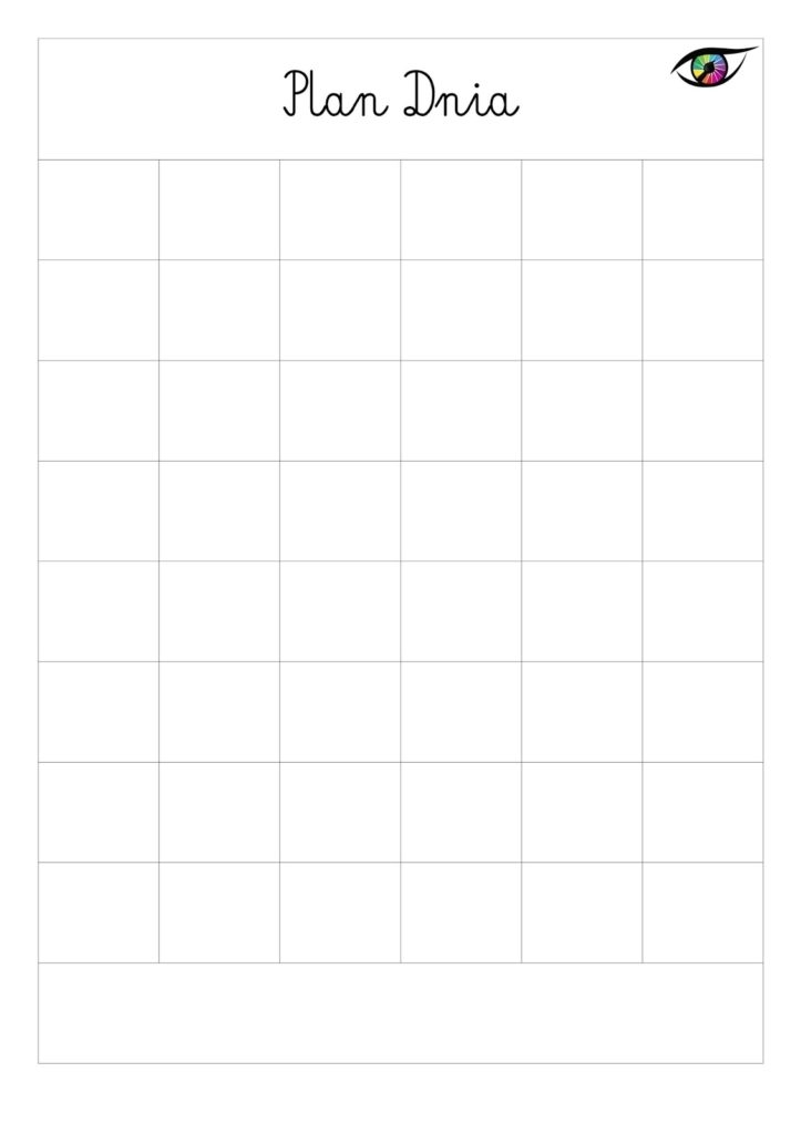 plan dnia dla dziecka � wersja do druku � kreatywnym okiem