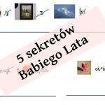 5 sekretów Babiego Lata – rebusy dla dzieci