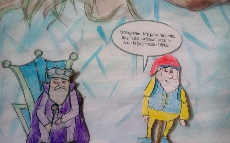 """""""O krasnoludkach i o sierotce Marysi"""". M. Konopnicka. Pomoc szkolna do wydrukowania i wykorzystania podczas lektury w klasie 3. Dziecko na warsztat - papier."""