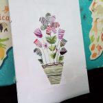 Wyszyj kwiaty na kartce! – laurka na każdą okazję
