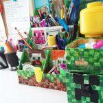 Organizer na biurko Minecraft-zrób to sama!