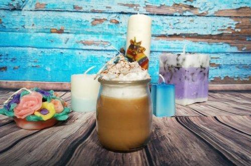wosk plastyczny, świeca woskowa cappuccino