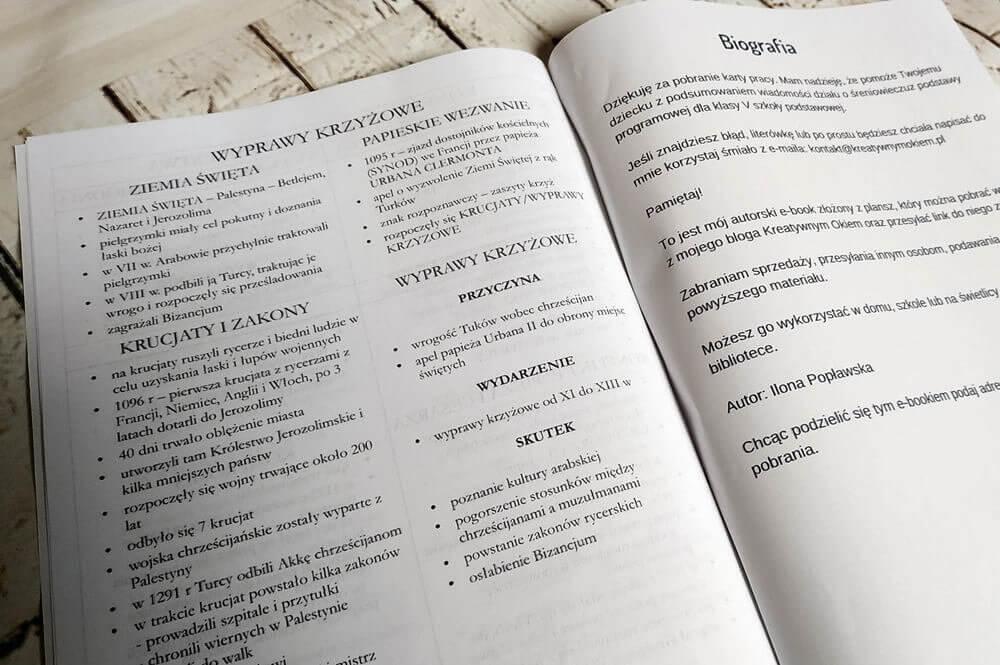 początki średniowiecza, sprawdzian, klasa 5